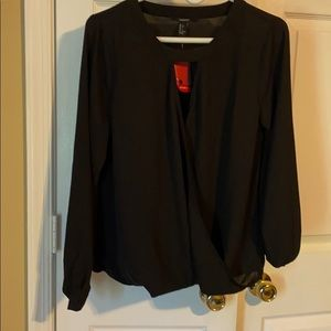 Forever 21 wrap style blouse new